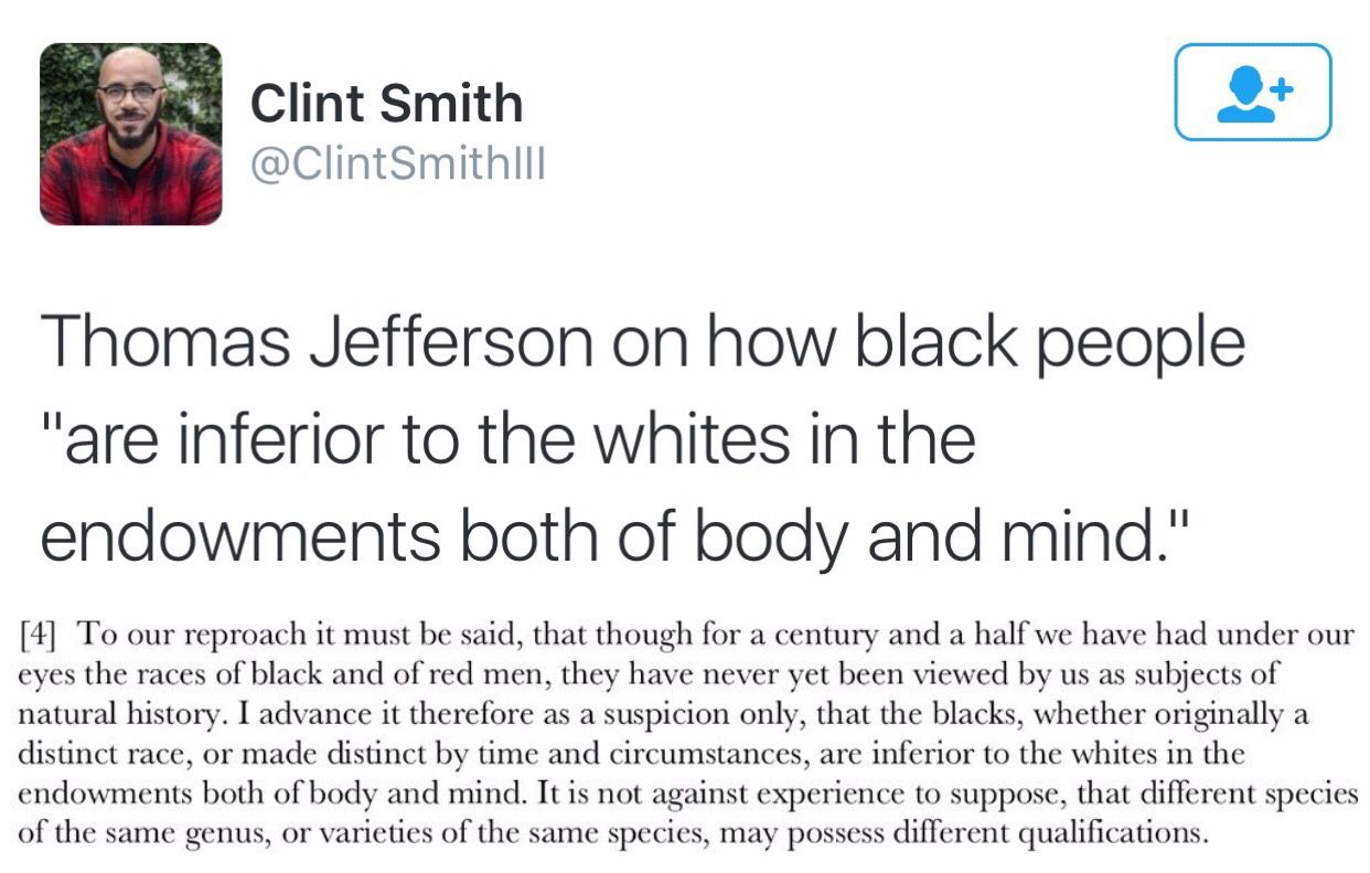 of thomas jefferson on how black people are inferior to the 4 of 4 thomas jefferson on how black people are inferior to the