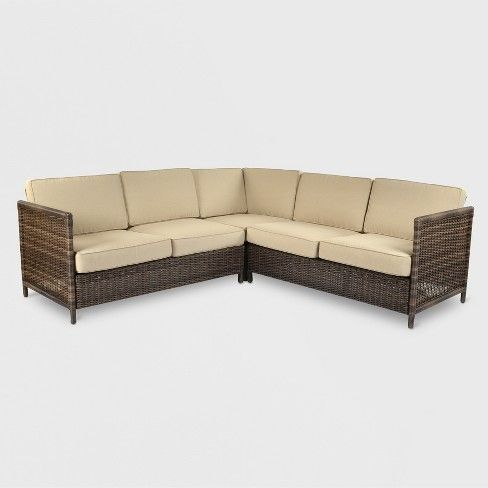 Monroe Motion Patio Sectional Threshold Target Patio Sectional Outdoor Sectional Furniture Beige Sectional