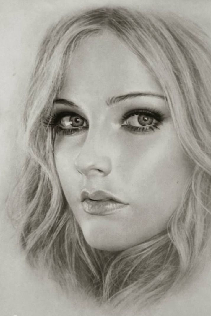 #drawing, #painting, #ideas | Female face drawing ...