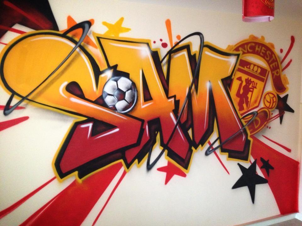 Children teen kids bedroom graffiti mural - Graffiti ideen ...