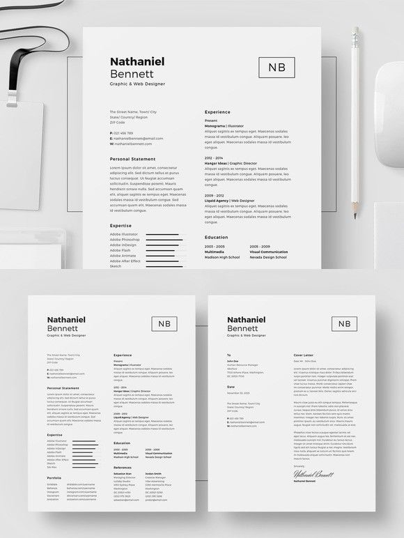 Resume\/CV - Nathaniel Bennett Resume Templates Pinterest - adobe indesign resume template