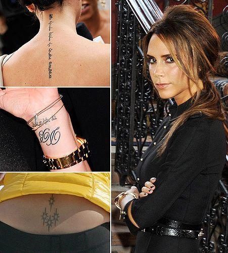 Victoria Beckham Tattoos