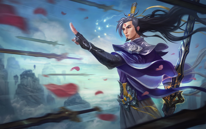 Download Wallpapers Master Yi Characters Art League Of Legends Besthqwallpapers Com League Of Legends Champions League Of Legends Legend Images