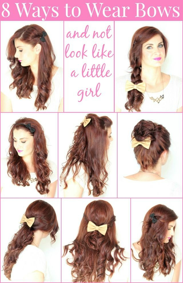 8 Ways To Wear Bows In Your Hair Ma Nouvelle Mode Bow Hairstyle Hair Styles Hair