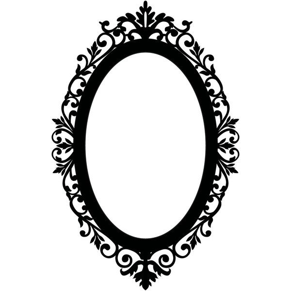 Mirror Frames Cliparts liked on Polyvore featuring frames ...