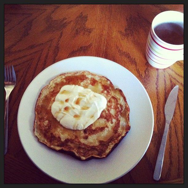 Healthy banana omelette