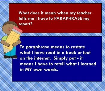 Paraphrasing Tip And Practice Ela Lesson Smart Board My Teacher What Doe A Paraphrase Mean In English Poetry Quizlet