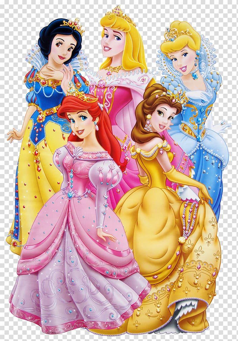 Five Disney Princesses Illustration Princess Aurora Princess Jasmine Minnie Mouse Belle Ariel Disney Disney Princess Images Disney Princess Png Aurora Disney