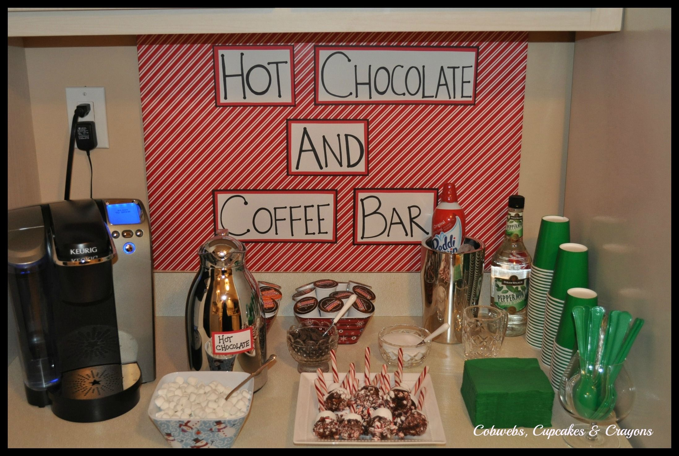 Hot Cocoa Bar with Keurig for hot water. AND add ins for the ...