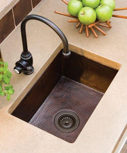 Antique Style Copper Bar Prep Sinks Copper Kitchen Sink Kitchen Sink Design Copper Kitchen