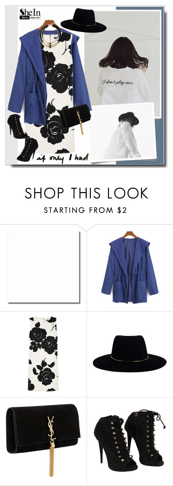 """""""Lady Luck"""" by shandra37 ❤ liked on Polyvore featuring Dolce&Gabbana, Zimmermann, Yves Saint Laurent, Giuseppe Zanotti, Topshop, StreetStyle, Sheinside, retro, fallwinter2015 and shein"""