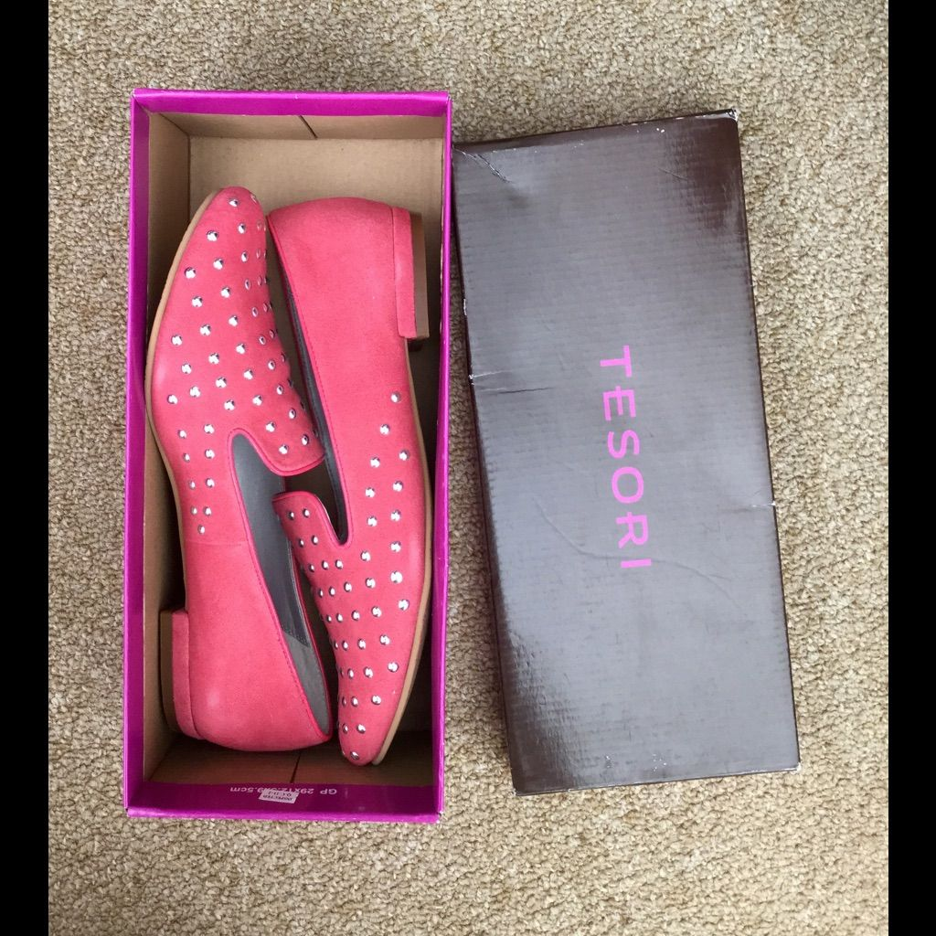 Pink Studded Loafers