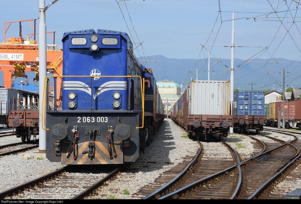 2063 003 Hz Hrvatske Zeljeznice Emd G26cw At Rijeka Brajdica Croatia By Kapo1061 Rijeka Croatia Train