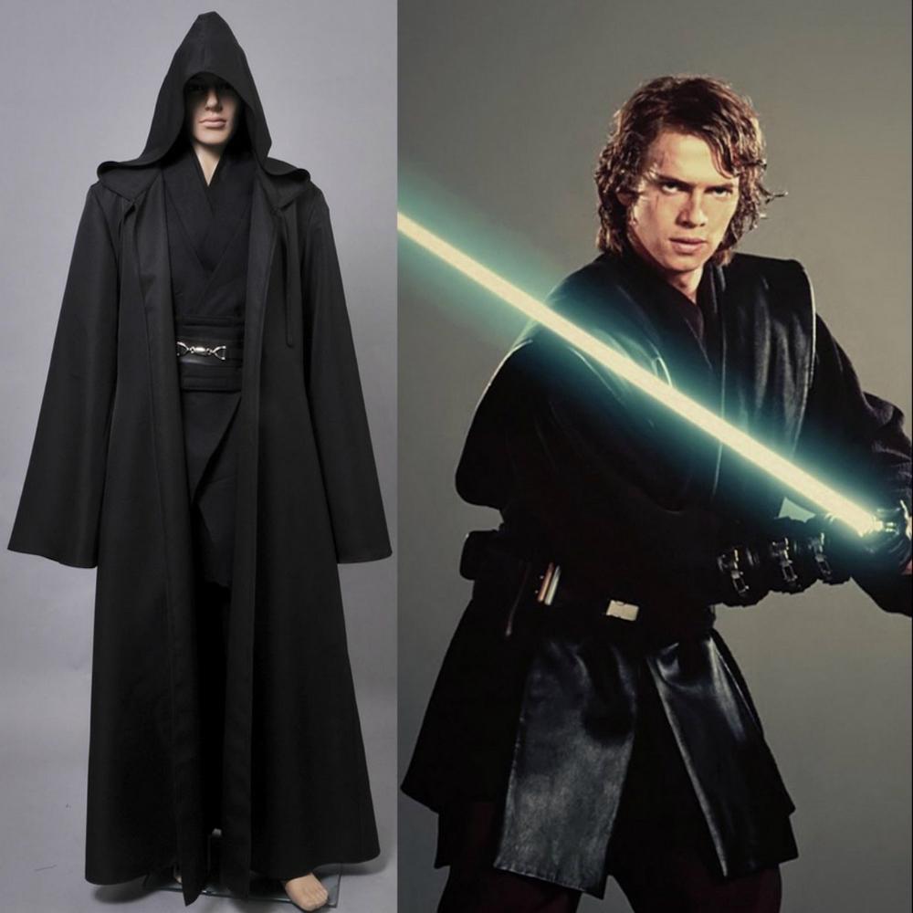 Anakin Skywalker Costume Gloves Star Wars Adult Mens Jedi Halloween Fancy Dress