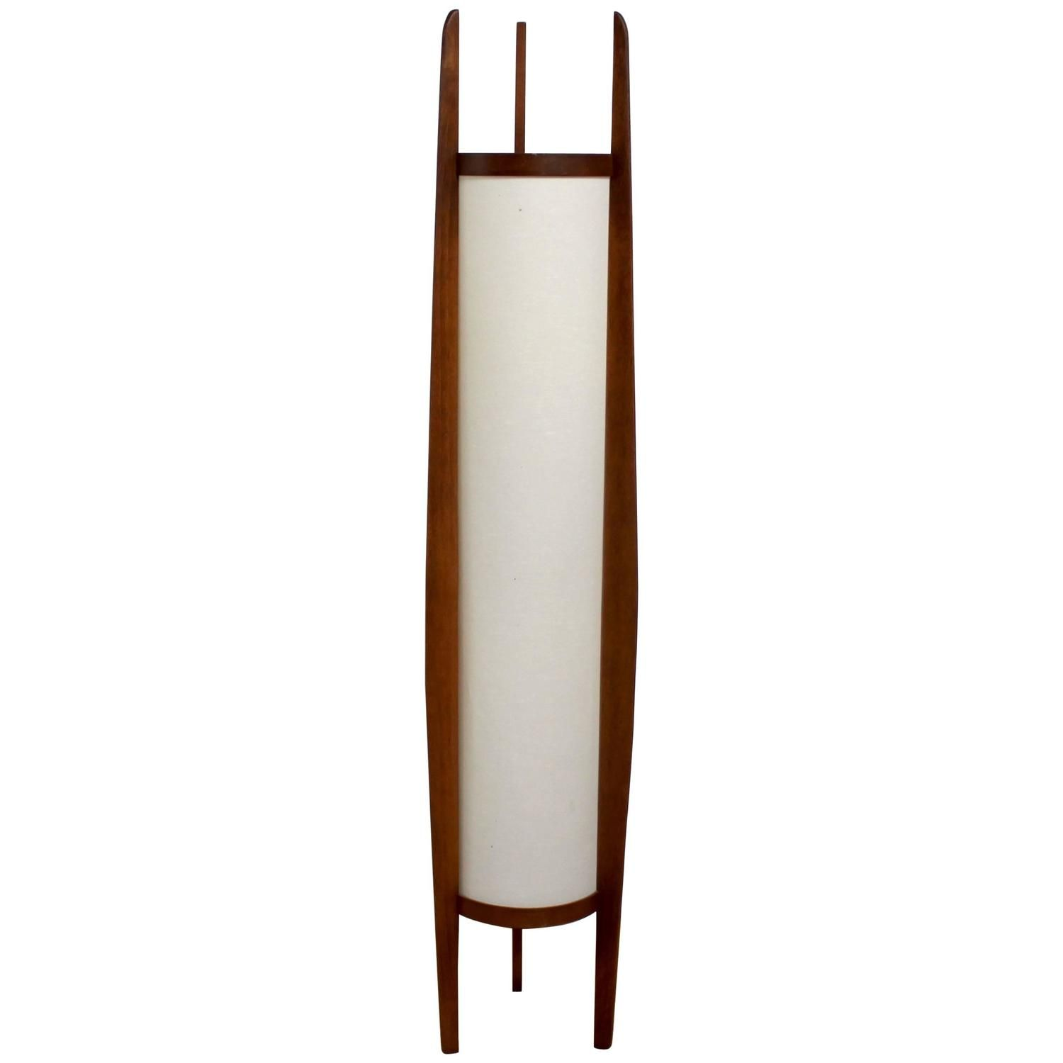 1960s Danish Modern Sculptural Teak Modeline Floor Lamp
