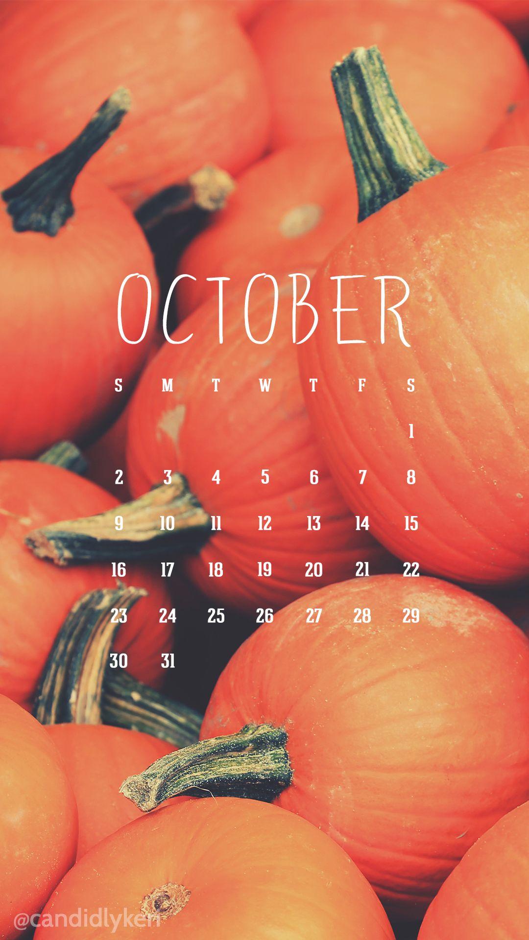 Cute pumpkin patch image October calendar 2016 wallpaper