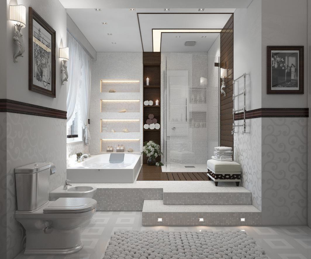 Modern Bathroom Basement bathroom remodeling, Basement