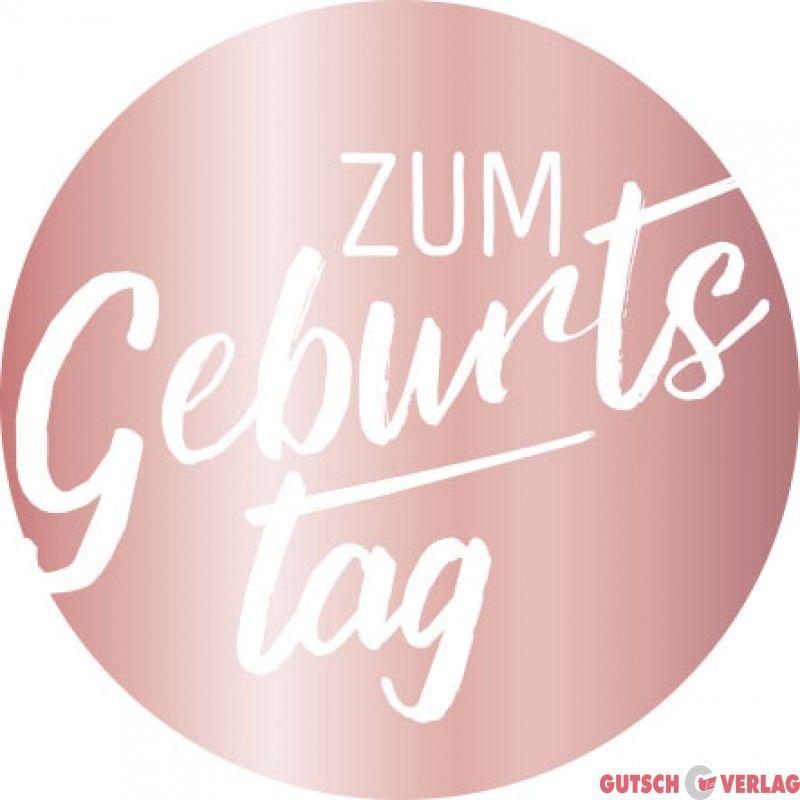 Zumgeburtstag Geburtstag Aufkleber Sticker Mitklebepad