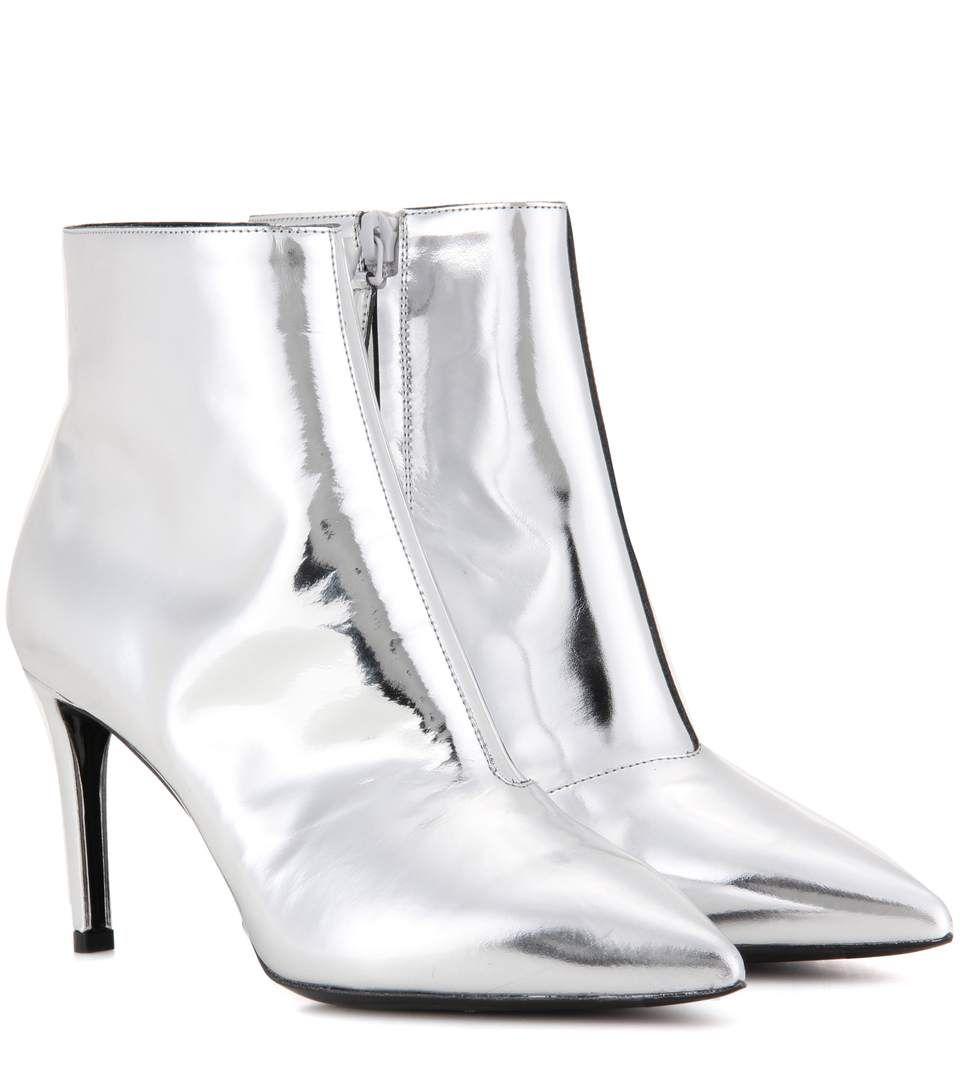 587a87c3fe0d BALENCIAGA Metallic Leather Ankle Boots.  balenciaga  shoes  boots ...