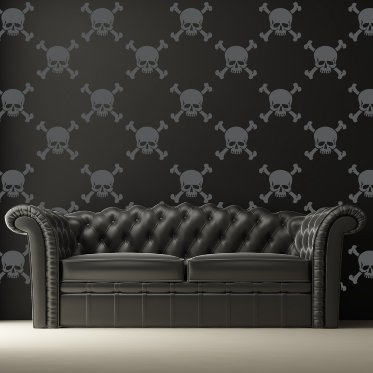 home skull wallpaper - google search | gothic home decor
