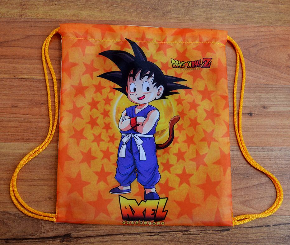 Bolsita Personalizada Para Dulces Dragon Ball Goku Azul 25 X 30 Cm Contacto Facebook Wambicrafts Dragon Ball Z Dragon Ball Pokemon