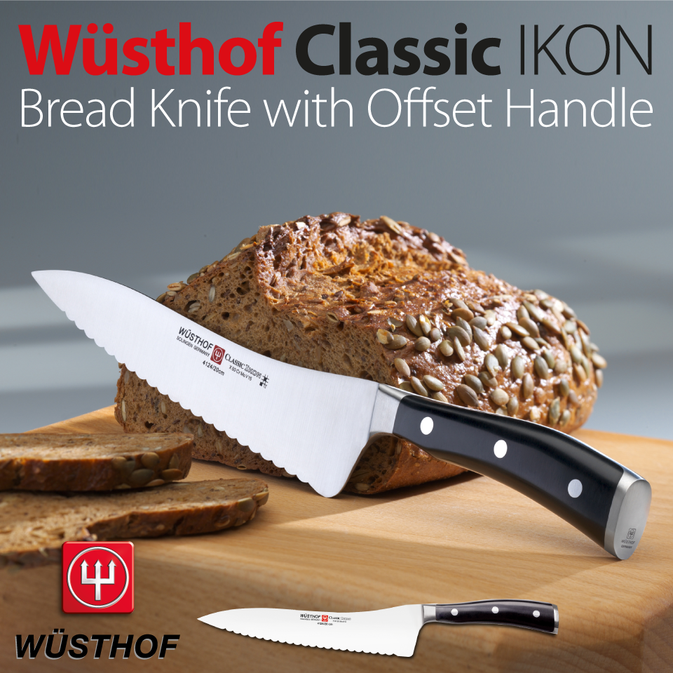 A sleek, stylish 20cm Bread Knife from the Classic IKON range. Looks ...