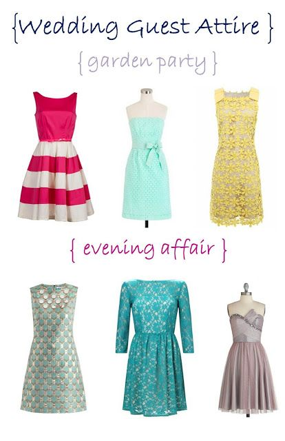 Wedding Guest Attire for your day wedding and evening wedding ...