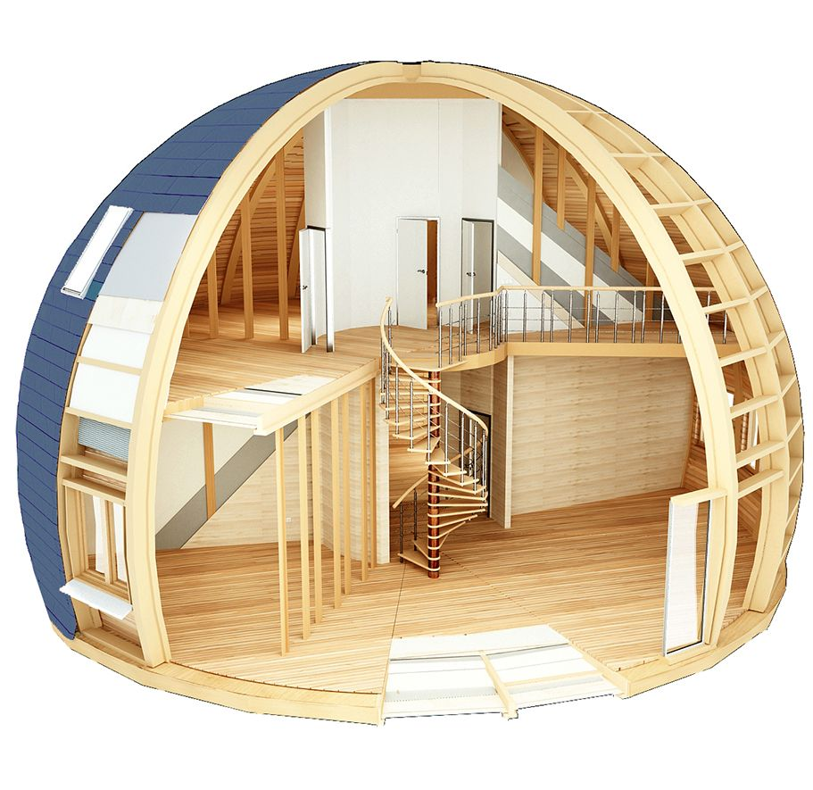Dome Home Interiors: Adorable Tiny House Design
