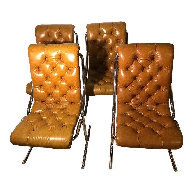 Sensational Mid Century Modern Daystrom Chrome And Vinyl Chairs Set Of Short Links Chair Design For Home Short Linksinfo