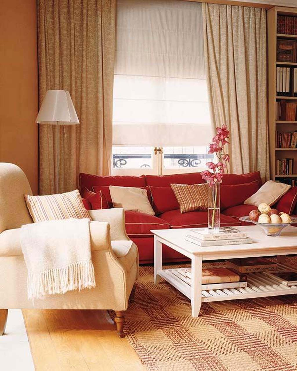 30 Small Living Room Decorating Ideas | Red couch living ...