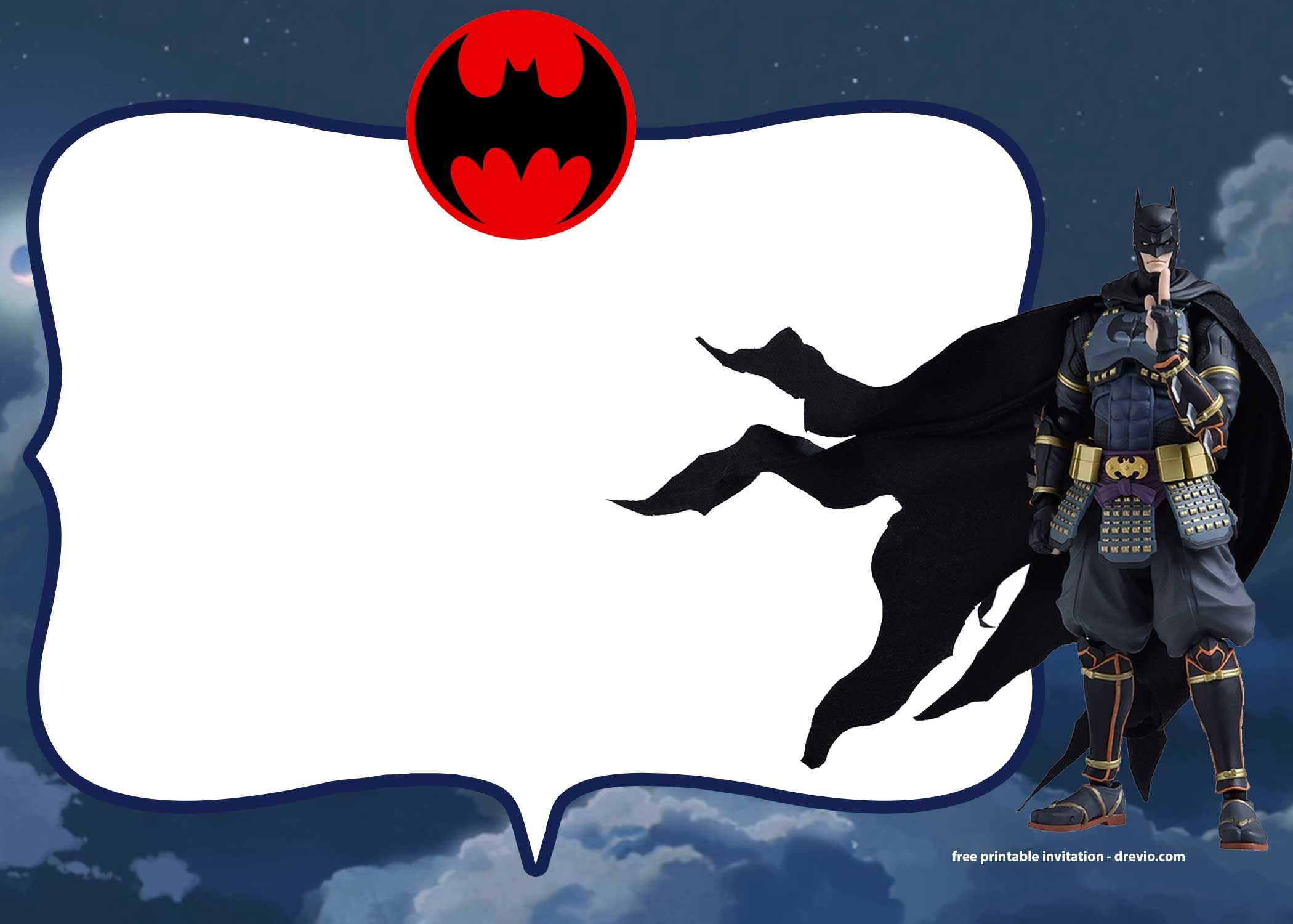 FREE Printable Batman Ninja Invitation Templates in 2018 | batman ...