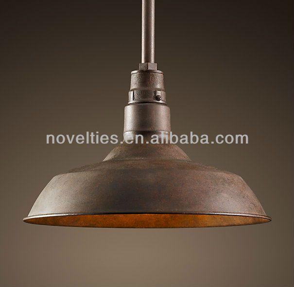 Barn Lights Indoor   Vintage Barn Pendant Black Pendant Light Antique Lamps