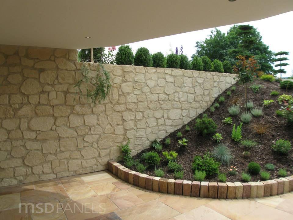 Exterior stone wall exteriors pinterest muro de - Muros sinteticos decorativos ...