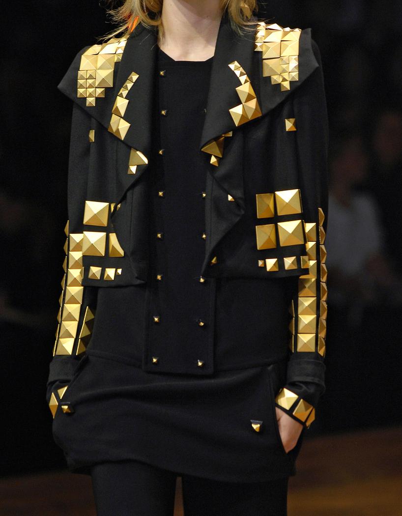 Givenchi ,, moto jacket with metal detailing