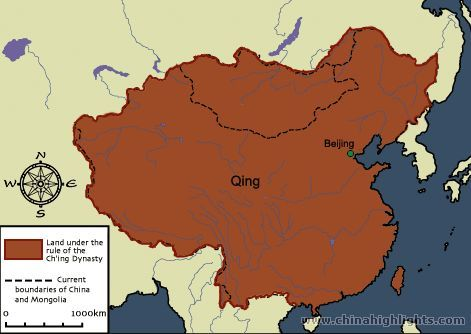 Qing dynasty map ancient china maps this map shows the for 8 cuisines of china