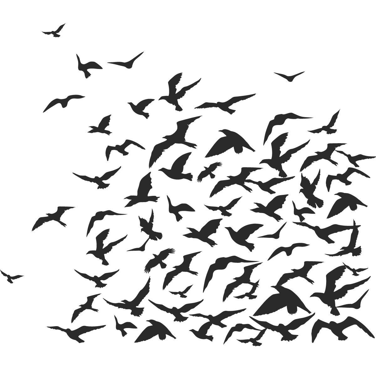 Flock Of Birds Animals Wall Art Decal Wall Stickers