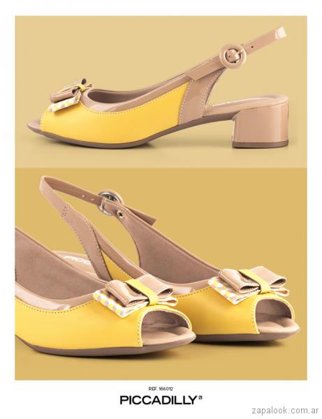 4d14c799e6 zapatos amarillos verano 2018 - Piccadilly