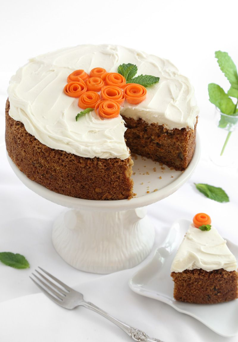 Carrot Cake With Cream Cheese Frosting With Images Homemade
