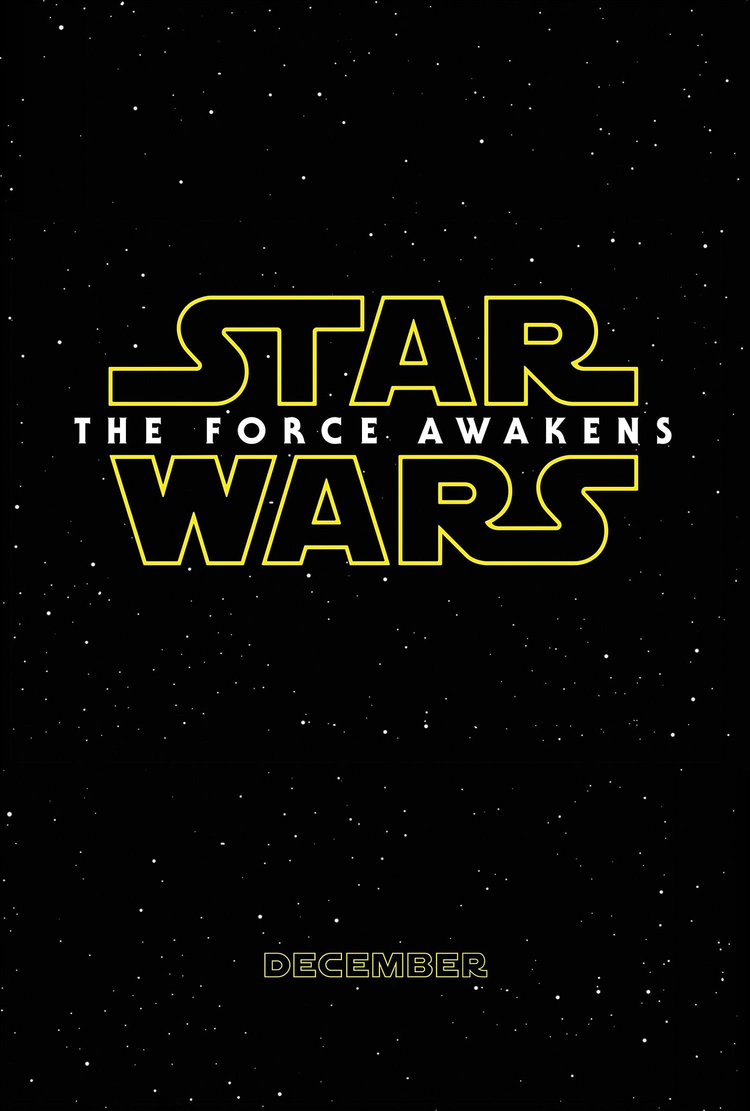 'Star Wars: The Force Awakens' Logo Poster (2014)