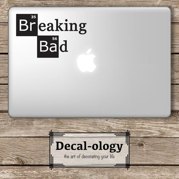 Breaking bad apple macbook laptop vinyl sticker decal
