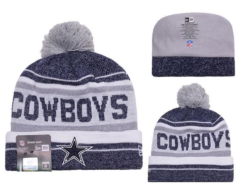 Men s   Women s Dallas Cowboys New Era 2016 NFL Snow Dayz Knit Pom Pom  Beanie Hat - Navy   White c7f51594d