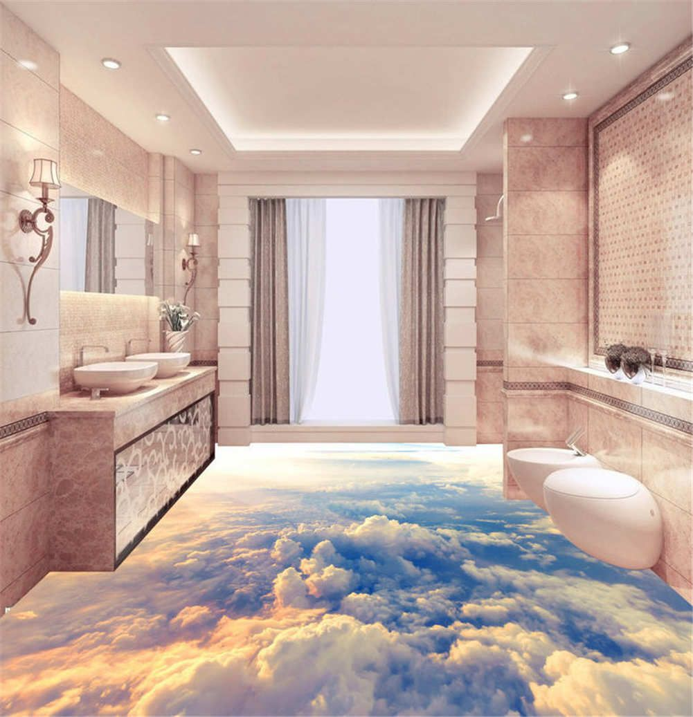 Dreamlike Sky 3d Floor Mural Photo Flooring Wallpaper Home