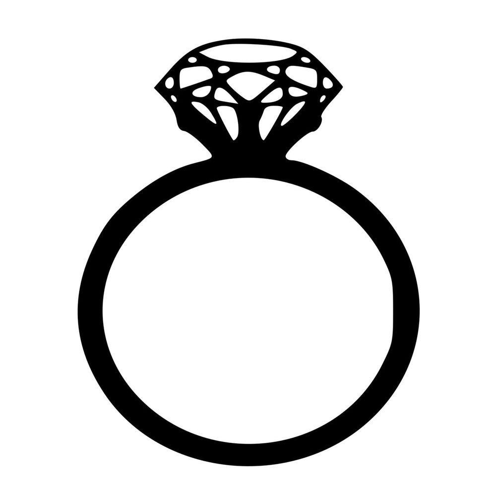 Diamond Ring Vinyl Decal Walls Ring Icon Stamp Blocks Wedding Ring Clipart