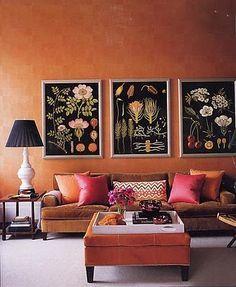 Terracotta Walls Living Room Living Room Orange Home Decor Decor