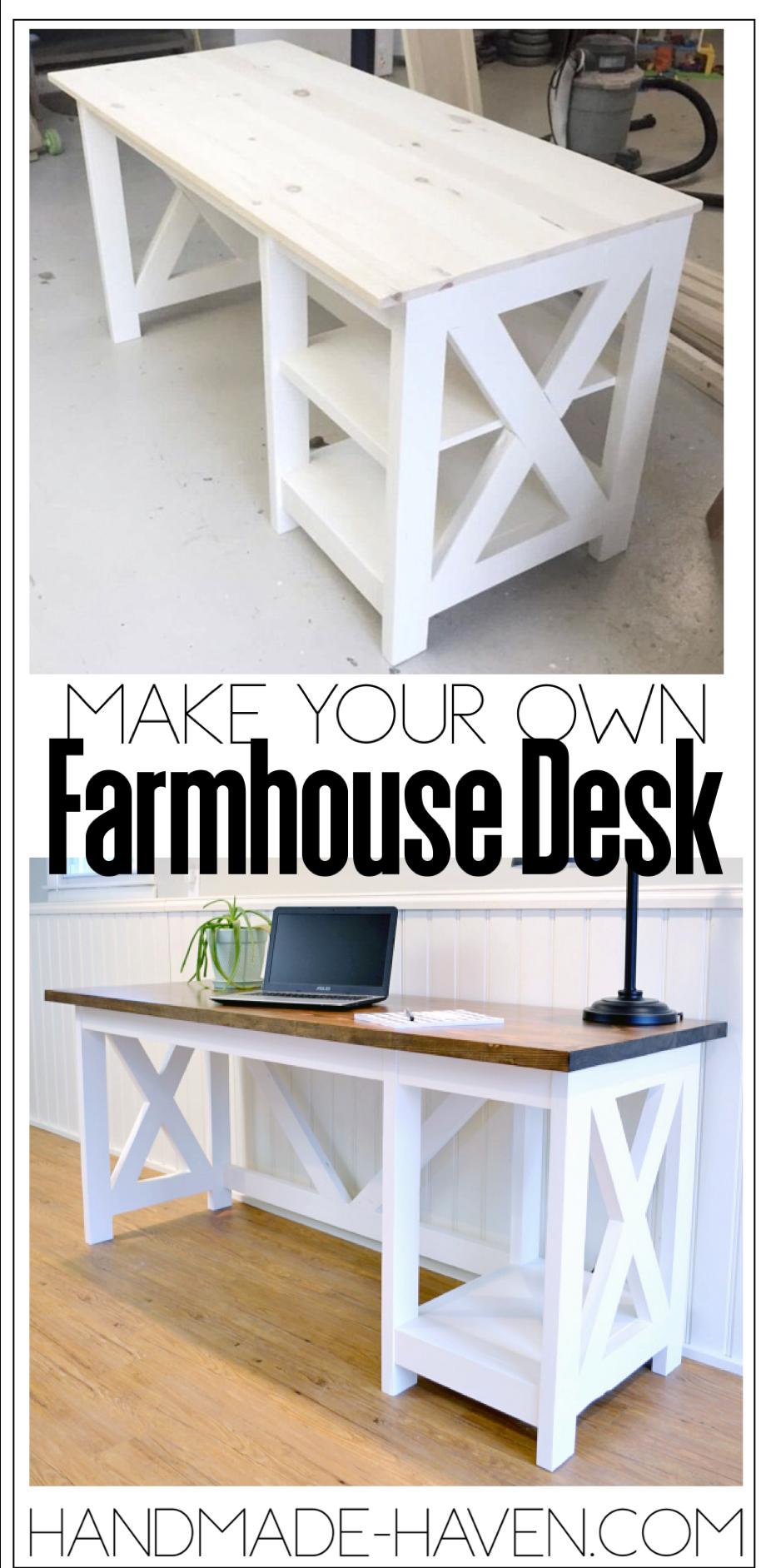 Photo of Farmhouse Desk Plans