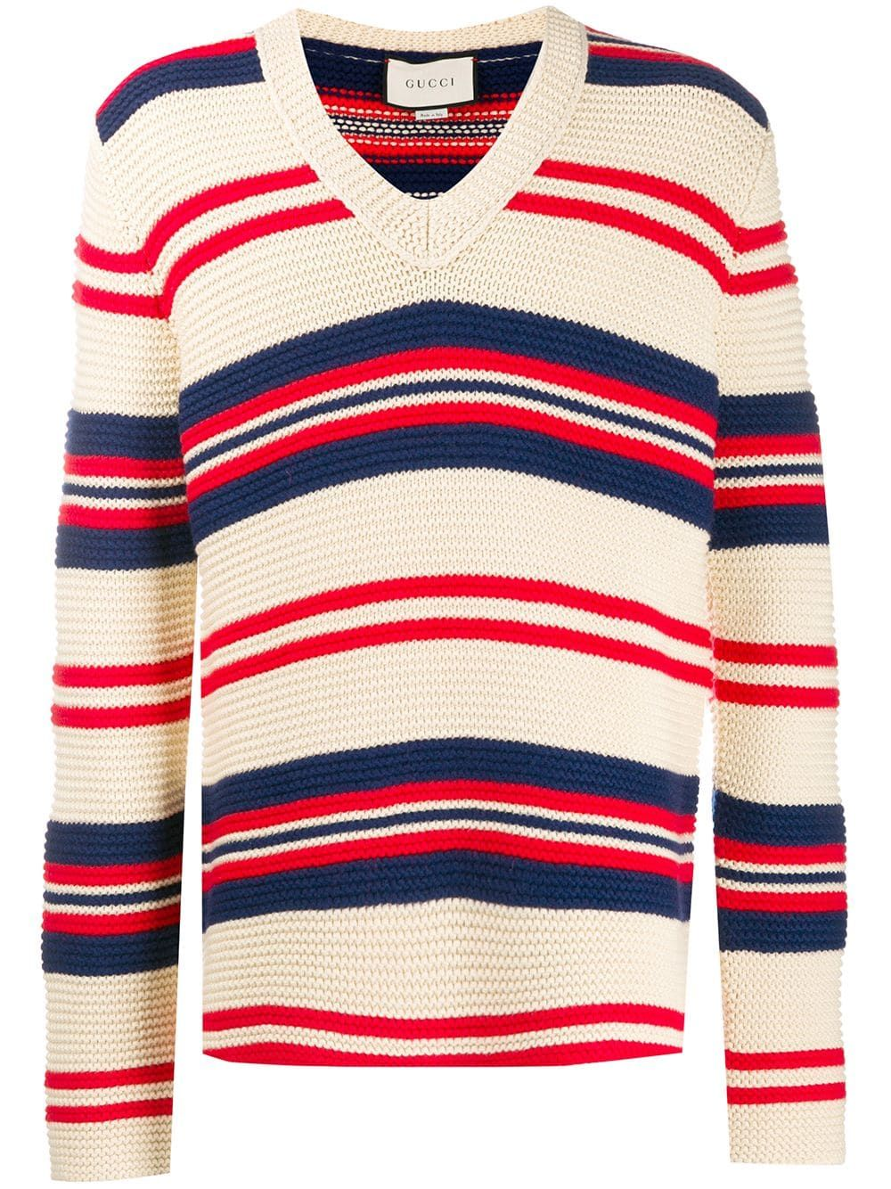 aa6f3ac91 Gucci striped jumper - Neutrals in 2019 | Products | Men sweater ...