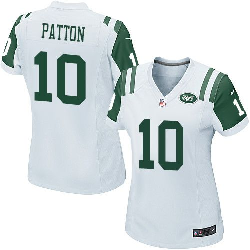 womens nike new york jets 10 quinton patton game white nfl jersey