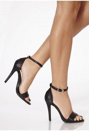 ebf38efffd90e Kazumi Leather High Heeled Sandals - Heels - Shoes - Missguided ...