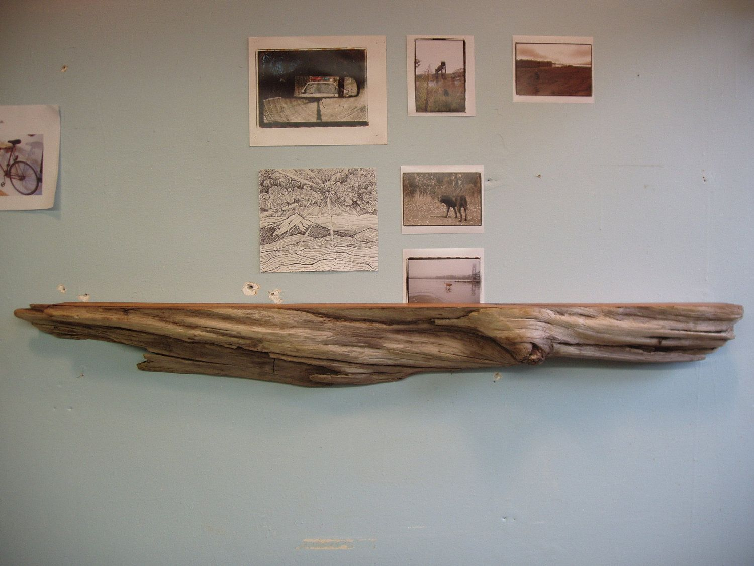 driftwood pacific red cedar mantle shelf 78 95 via etsy for