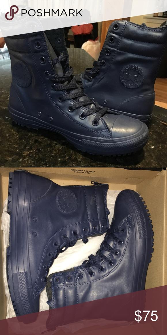 31e7ebd771 Converse Navy Hi-Rise Rubber Boots Women s 9 Brand new